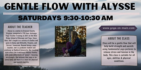 Saturday Gentle Flow Yoga tickets