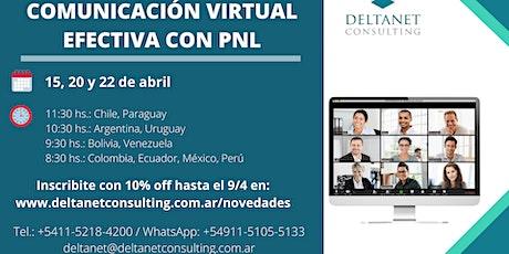 COMUNICACIÓN VIRTUAL EFECTIVA CON PNL boletos