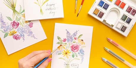Beginner Watercolor Mother's Day Cards tickets