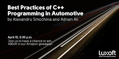 Best Practices of C++ Programming in Automotive tickets