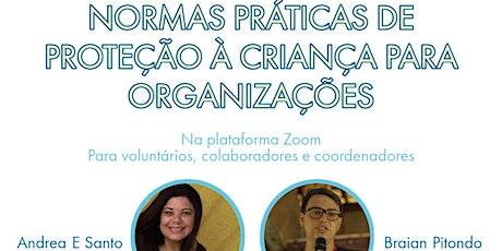 Aula ao vivo: Normas práticas de  proteção à criança para organizações ingressos