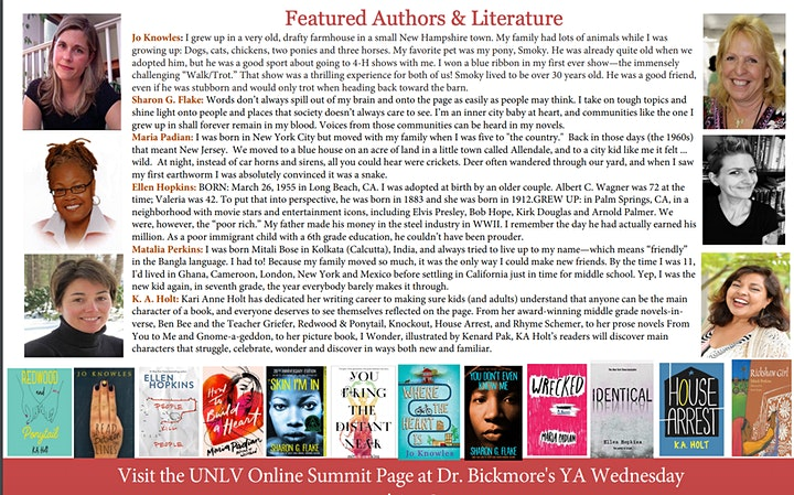 UNLV 2021 Online SUMMIT ON THE RESEARCH AND TEACHING OF YA LITERATURE image