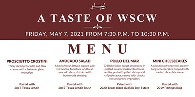 A Taste of WSCW May 7, 2021