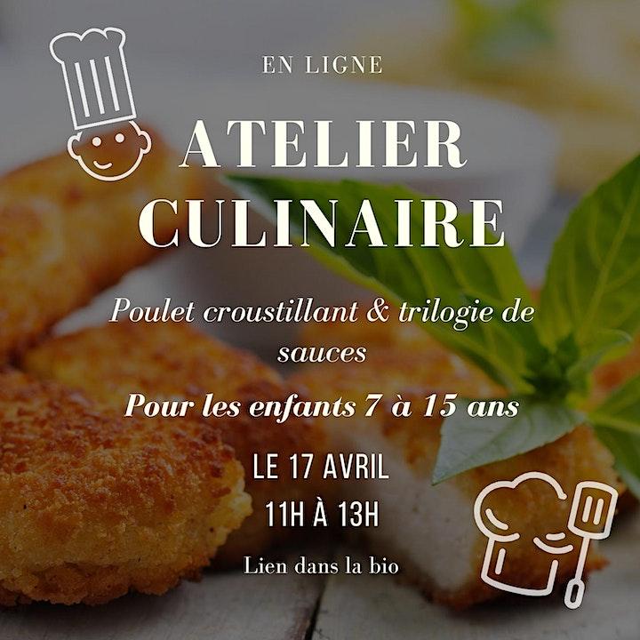 Image de Atelier de cuisine - Poulet croustillant et trilogie de sauce - enfants