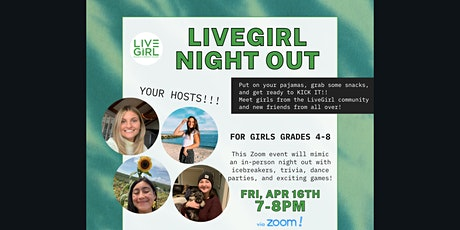 LiveGirl Night Out for Middle Schoolers! tickets
