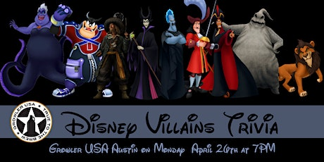 Disney Villains Trivia at Growler USA Austin tickets