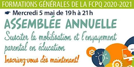 Formation «Mobilisation et assemblée annuelle des parents» billets