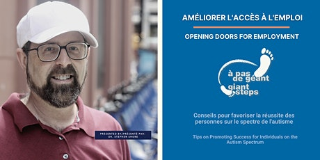 AMÉLIORER L'ACCÈS À L'EMPLOI  - OPENING DOORS FOR EMPLOYMENT billets