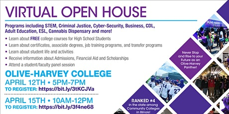 Olive-Harvey College Virtual Open House tickets