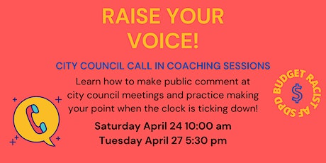 City Council Call In Coaching Sessions tickets