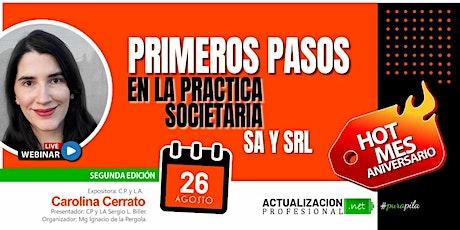 /GRABACIONPrimeros pasos en la práctica societaria:Todo sobre  S.A. y S.R.L tickets