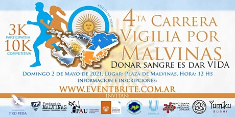 Carrera Vigilia por Malvinas - Donar Sangre es Dar Vida - 4ta edición entradas