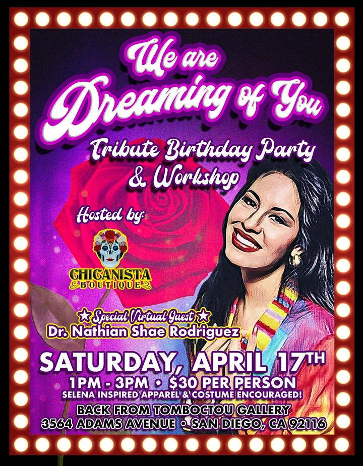 We are Dreaming of You Tribute Bday Party and Workshop image