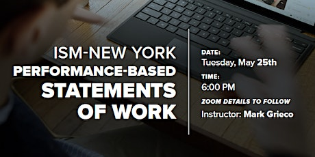 ISM-New York: Performance-Based Statements of Work tickets