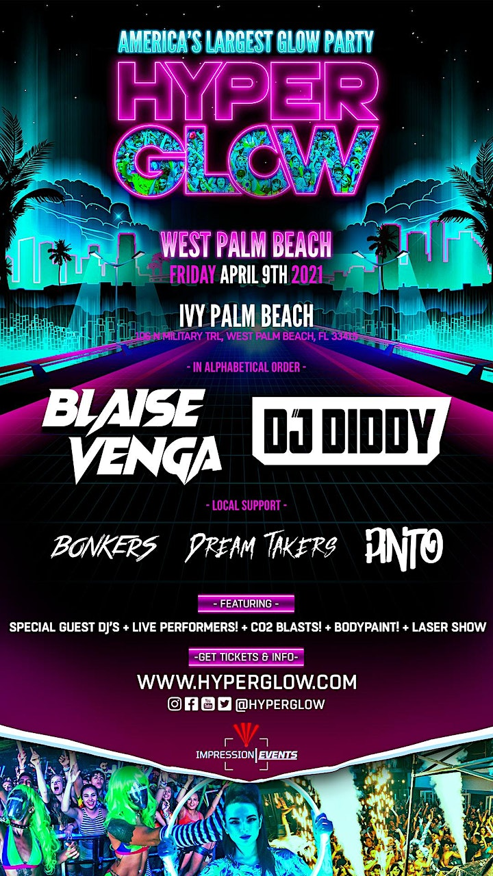 "HYPERGLOW West Palm Beach, FL! ""America's Largest Glow Party"" image"