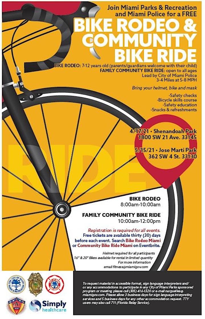 City of Miami Bike Rodeo Saturday (MAY) image
