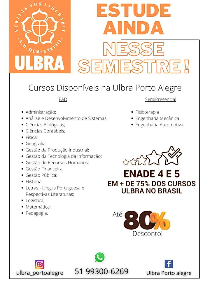 Imagem do evento Faça sua GRADUAÇÃO na Ulbra Porto Alegre!