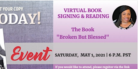 Virtual Book Signing & Reading | Broken But Blessed tickets