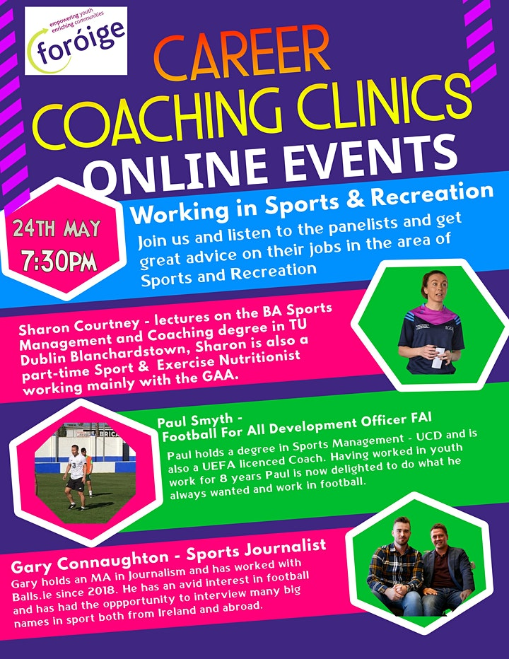 Foróige Careers Coaching Clinic - Sports and Fitness image