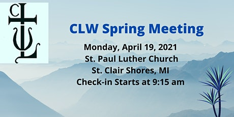 CLW Spring Meeting tickets