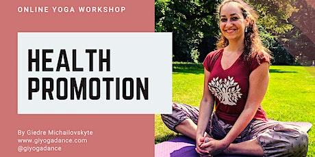 "Online Yoga Workshop ""Health Promotion"" tickets"