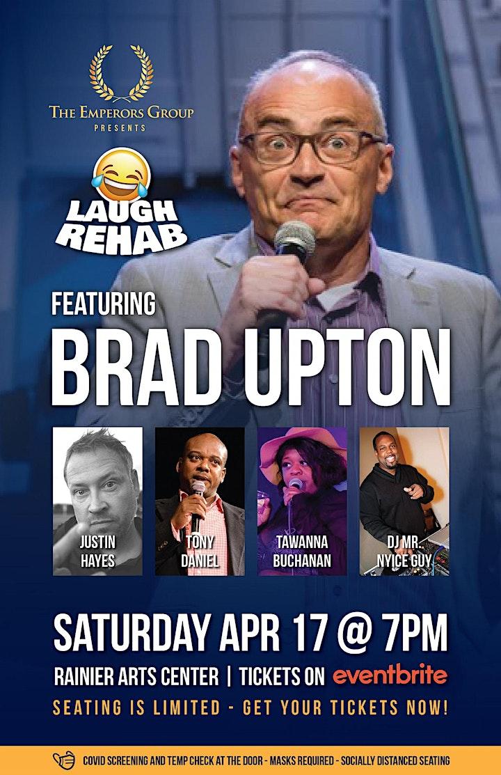 LAUGH REHAB feature BRAD UPTON, JUSTIN HAYES, TONY DANIEL, TAWANNA BUCHANAN image