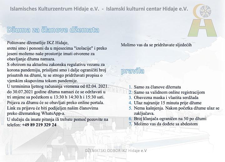 Džuma za članove u IKZ Hidaje 02.04 - 30.07.2021: Bild