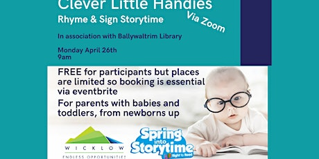 Rhyme & Sign Storytime - Ballywaltrim Library tickets