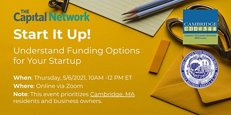 Start It Up! Understand Funding Options for Your Startup tickets