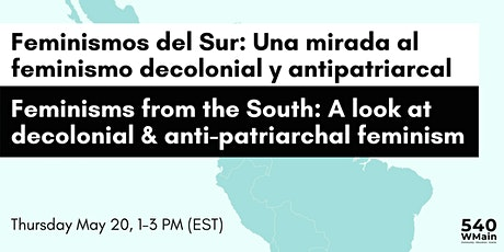 Feminisms from the South / Feminismos del Sur boletos