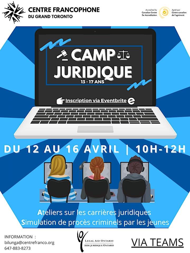 Camp juridique  d' avril 2021 pour les ados de 13 à17 ans image