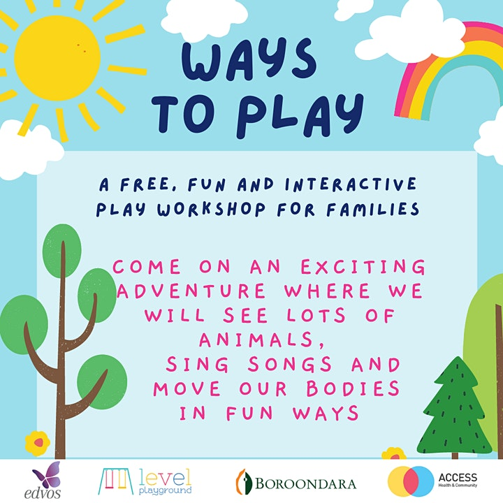 Ways To Play- Interactive play workshop for families image
