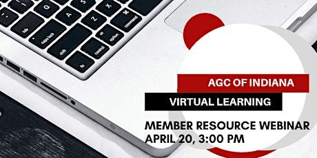 AGC of Indiana Member Resource Webinar tickets