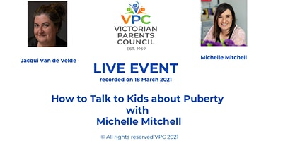 How to Talk to Kids About Puberty – Michelle Mitchell, watch till 29 April