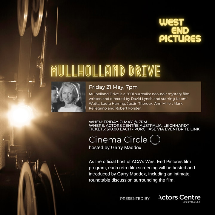 West End Films Presents a screening of Mullholland Drive image