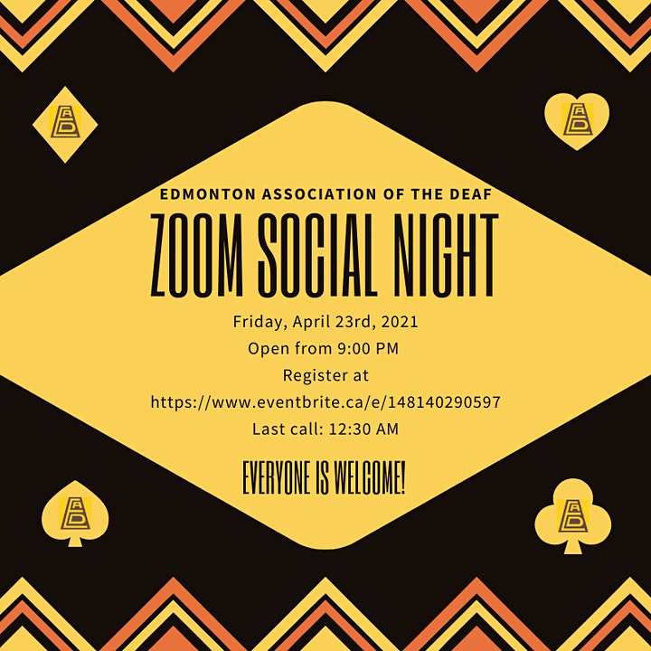 Zoom ASL Social Night image