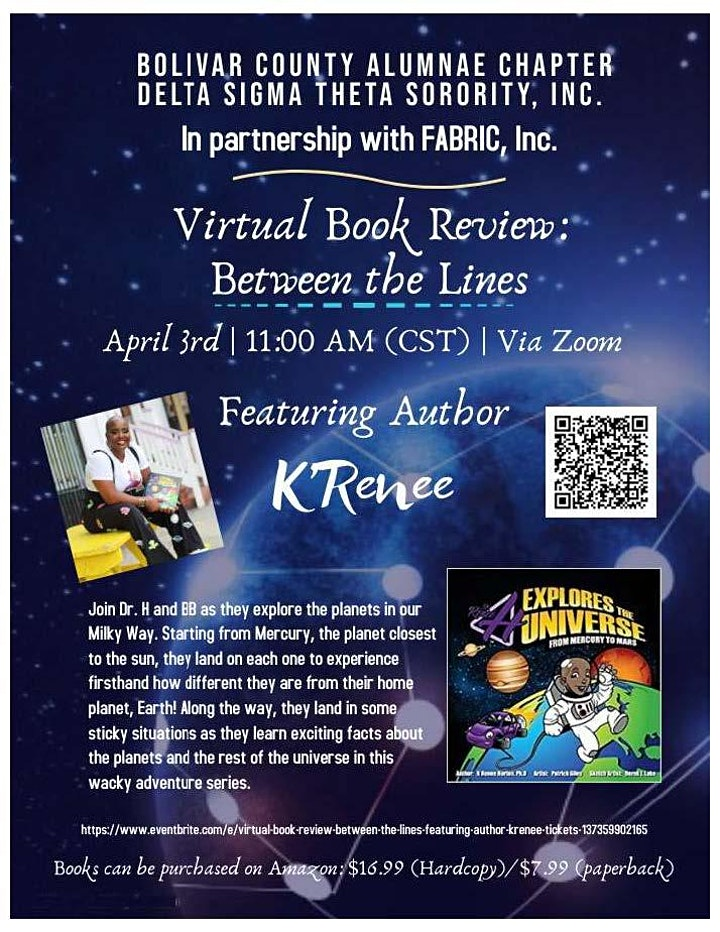 Virtual Book Review: Between the Lines Featuring Author K'Renee image