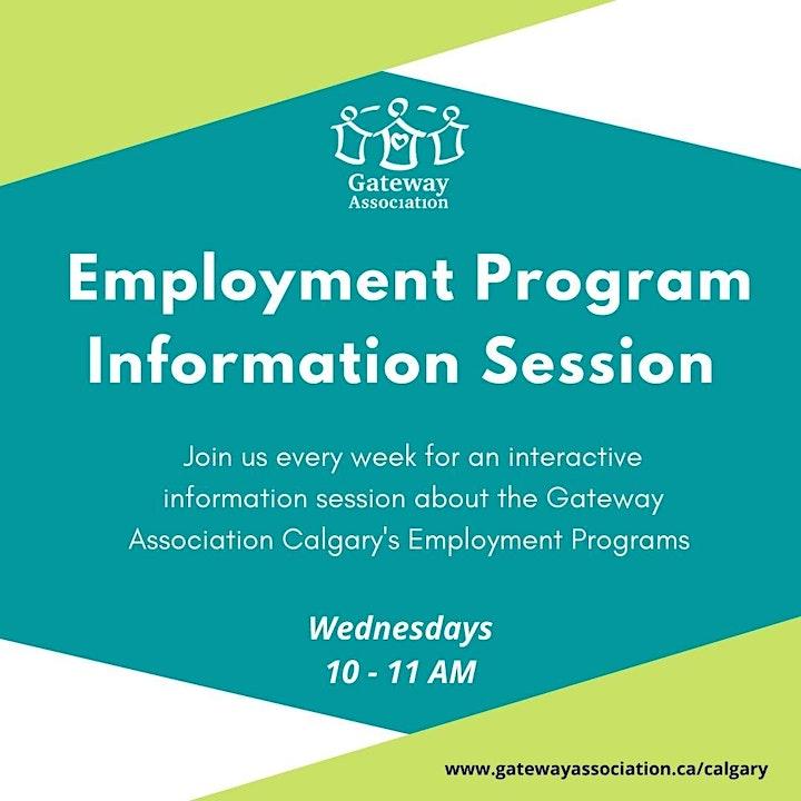 Gateway Association Calgary's Employment Program Information Session image