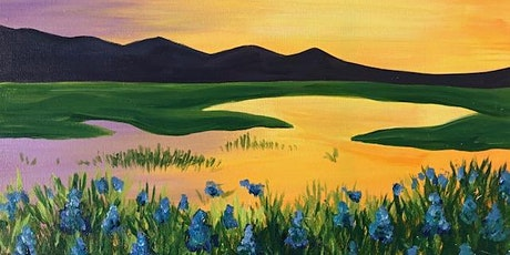Beautiful 'Spring ', Paint and Wine Class (Online) tickets