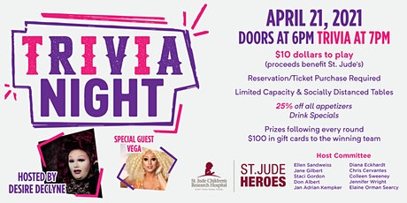 Drag Trivia with Queen Desire Declyne, benefitting St. Jude tickets