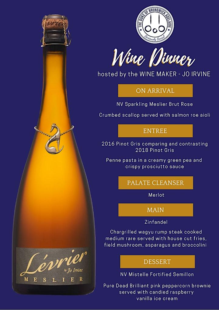 L'evrier Wine Dinner image