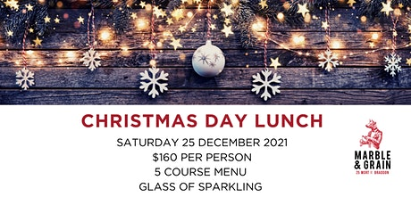 Christmas Day Lunch at Marble & Grain tickets