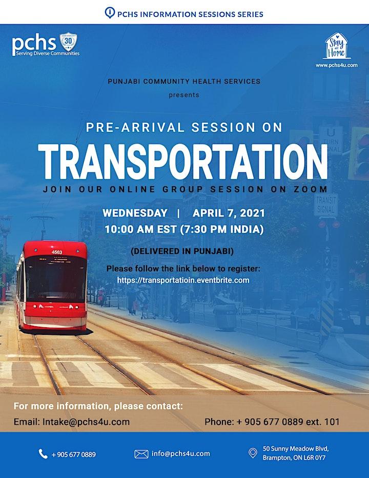 PCHS Pre-Arrival Session on Transportation (Punjabi) image