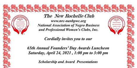 The New Rochelle Club 65th Annual Founders Day and Virtual Awards tickets
