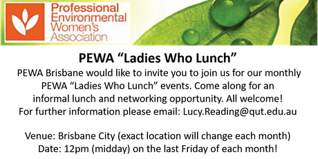 "PEWA Brisbane ""Ladies Who Lunch"" tickets"