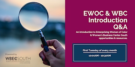 Enterprising Women of Color & Women's Business Center Introductory Q&A tickets