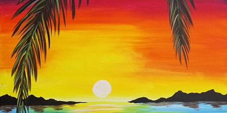 Beautiful Ocean Sunrise Painting and Vino Class tickets