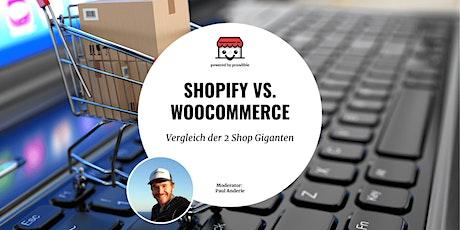 Shopify vs. WooCommerce - Vergleich der 2 Shop Giganten tickets