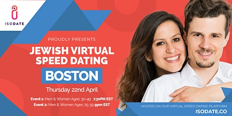Isodate's Boston Jewish Virtual Speed Dating tickets