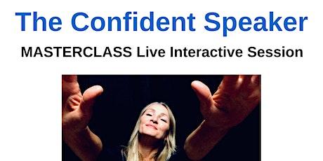 The Confident Speaker LIVE WEBINAR tickets